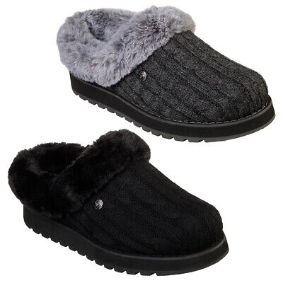 Skechers Bobs Keepsakes - Ice Angel Slip On Comfort Clog Slipper Sizes 4-8 • 39.95£