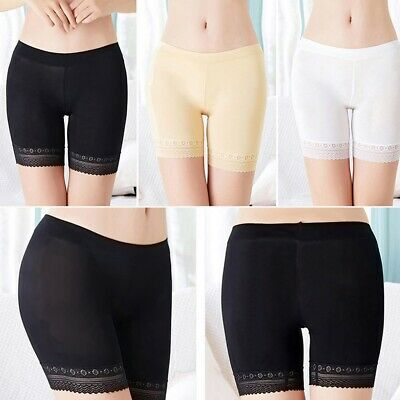 Women Under Skirt Shorts Safety Pants Soft Stretch Lace Trim Leggings Yoga Pants • 3.99£