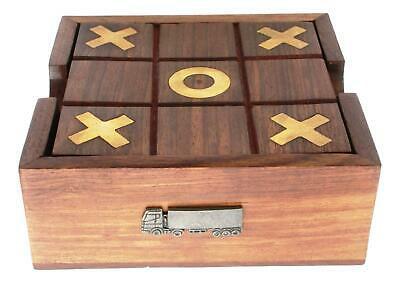 Articulated Lorry Wooden Tic Tac Toe Solitaire Game FREE ENGRAVING 446 • 24.99£
