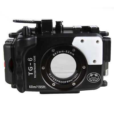 AU237.11 • Buy TG-6 Underwater Waterproof Diving Case Shell For Olympus TG-6 Camera 60M/195ft