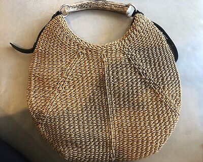 AU450 • Buy Authentic Yves Saint Laurent Raffia Mombassa Bag