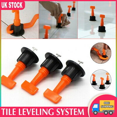 150 X Tile Leveling System Kits Leveler Tile Spacer Wall Floor Tool Construction • 18.99£