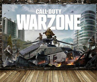 £19.59 • Buy Call Of Duty: Warzone Game PS4 Poster Print Canvas Wall Art 60cmX90cm No Frame