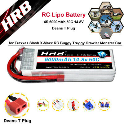 AU90.49 • Buy HRB 4S RCLipo Battery 6000mAh 50C 14.8V Deans T Plug For RC Buggy Truggy Crawler