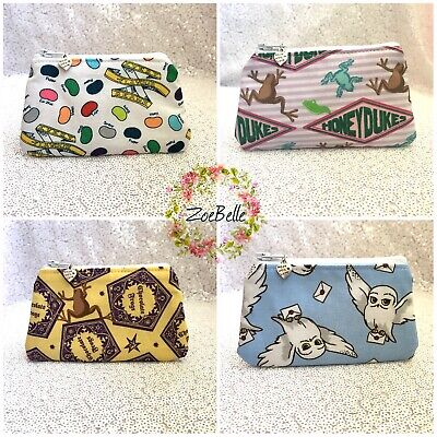 Womens Girls Kids Small Mini Wallet Card Coin Purse Zip Bag Harry Potter Fabric  • 3.49£