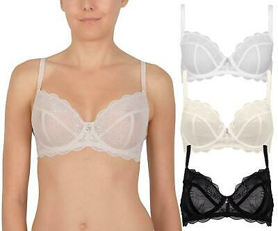 AU19.99 • Buy Naturana Cybele Delicate Lace Balcony Underwired Non Padded Bra 17404