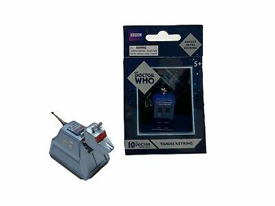 DR WHO TARDIS COLLECTABLE DIE CAST KEYRING (New)  + K9 Model (Used) As Pictured • 10£