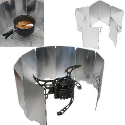 AU12.44 • Buy 9 Plates Outdoor Camping Cooking Picnic Stove BBQ Burner Windshield Wind Screen