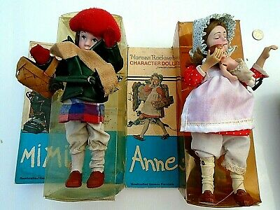 $13.88 • Buy (2)  Norman Rockwell Character Dolls-MIMI & ANNE Collectors Ed. Porcelain 1979