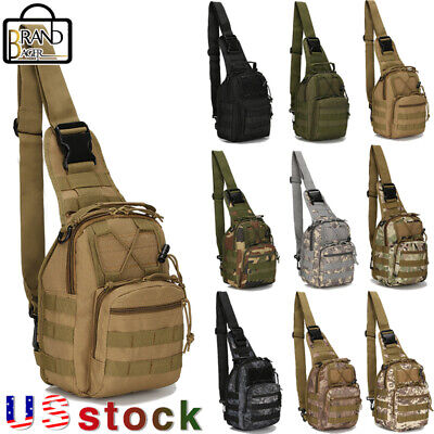 $10.99 • Buy Tactical Sling Military Chest Pack Outdoor Rover Small Shoulder Bag Molle Hiking
