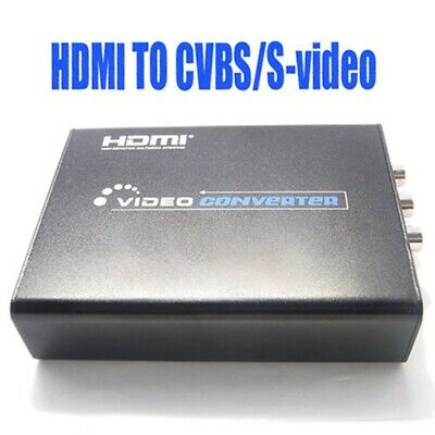 1080P HDMI To Composite 3RCA AV S-Video R/L Audio Video Output Adapter Converter • 31.99£