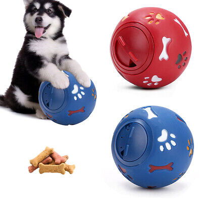Dog Pet Puzzle Toy Fun Tough-Treat Ball Mental Food Dispenser Interactive Play • 4.49£