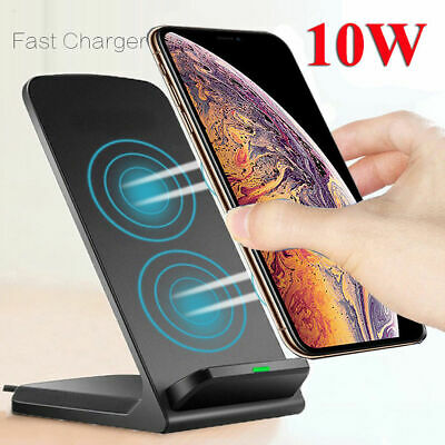 AU15.99 • Buy Qi Wireless Charger Fast Charging Stand Dock For Samsung S8 S9 S10 Plus Note 8 9