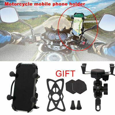 AU17.09 • Buy Universal X Grip Motorcycle Motorbike Phone Holder Mount Clamp + USB Fast Charge