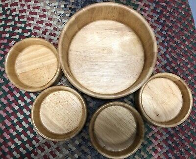 $15 • Buy Bamboo Set Of 5 Wood Wooden Bowl Set