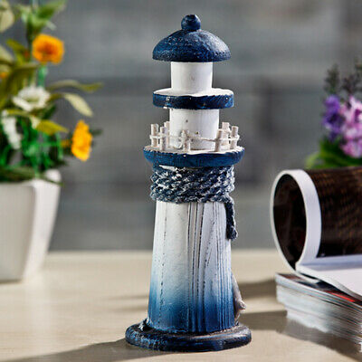 Wooden Lighthouse High Nautical Sea Themed Home Bedroom Decor Crafts • 3.97£