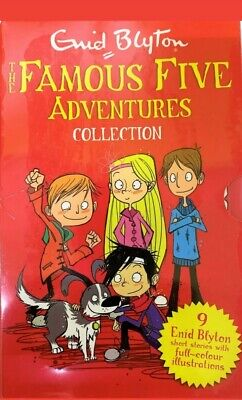 Famous Five Adventures Collection By Enid Blyton Classic Stories 9 Books Box Set • 17.69£