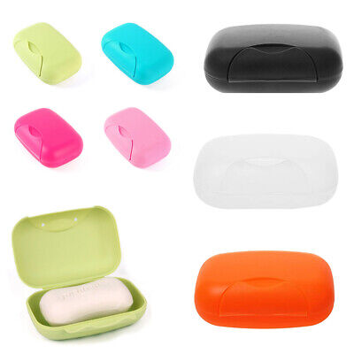 Soap Dispenser Dish Case Holder Container Box For Bathroom Travel Carry Case • 2.99£