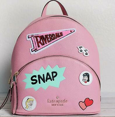 $ CDN259 • Buy Kate Spade Archie Comics Tribute Backpack Pink Leather NWT Betty Veronica