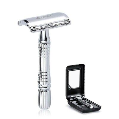 $12.99 • Buy Baili Classic Barber Double Edge, Safety Razor Shaver Knife Silver FREE SHIPPING