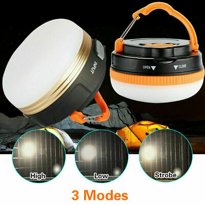 AU12.99 • Buy NEW USB Bright Rechargeable LED Camping Tent Fishing Lamp Light Portable Lantern