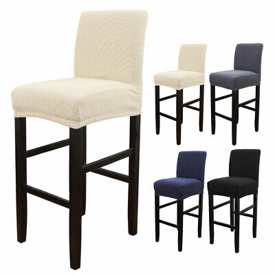 AU13.79 • Buy Elastic Bar Stool Cover Wedding Dining Chair Seat Cover Stretch Banquet Party A