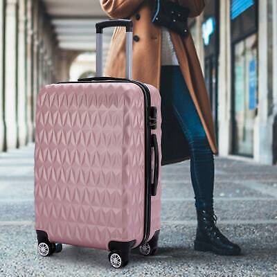 24  Hard Shell Luggage Suitcase Set Travel Luggage Trolley Case - Rose Gold • 29.99£