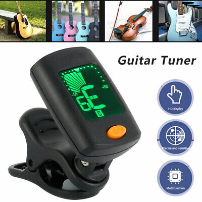 AU11.18 • Buy LCD Chromatic Guitar Tuner Violin Ukulele Bass Electronic Digital Clip On