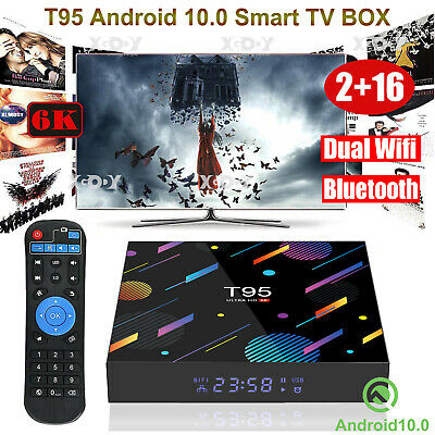 AU52.29 • Buy T95 Android 10.0 OS 2+16G Dual WIFI BT 6K Smart TV BOX HDMI2.0 USB Media Player