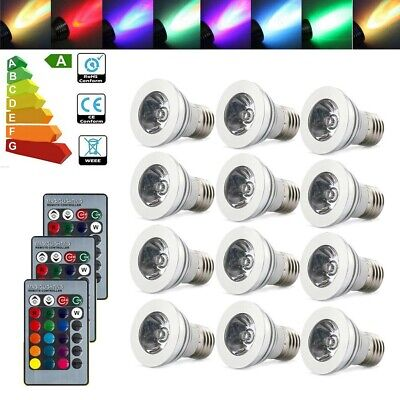 4-12pcs GU10 16 Color Changing RGB Dimmable LED Light Bulbs Lamps RC Remote Spot • 17.40£
