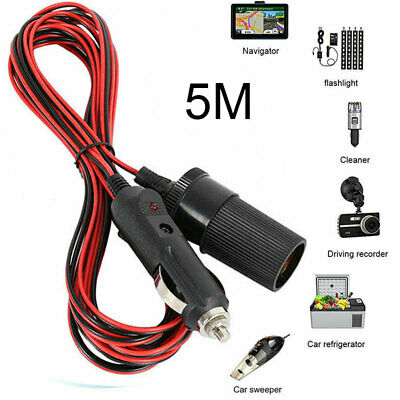 12V 5M Car Cigarette Cigar Lighter Extension Cable Adapt Socket Charge Cord Lead • 5.64£