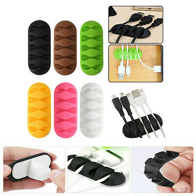 £1.89 • Buy 5-Clip Cable Clip Desk Tidy Cable Organizer Wire Cord USB Charger Cord Holder UK