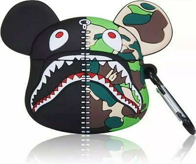 $11.99 • Buy Bape Shark BearBrick Camo BATHING APE Silicone Case Cover For Apple Airpods Pro