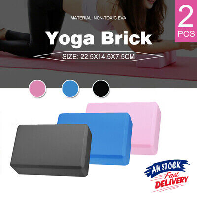 AU9.99 • Buy 2Pcs Yoga Block Brick Foaming Home Exercise Practice Fitness Gym Sport Tool AU