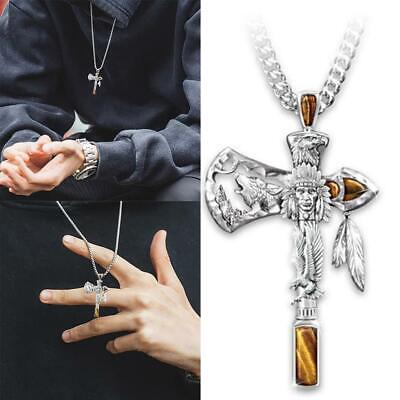 $6.49 • Buy Cross Pendant Necklace For Man Christian Presents Gifts USA Free Fast Shipping
