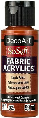 SoSoft Fabric Acrylic Paint 2oz-Bittersweet Orange -DSS2OZ-93 • 7.67£
