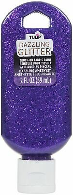 Tulip Dazzling Glitter Brush-On Fabric Paint 2oz-Amethyst -401-40194 • 8.80£