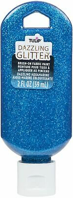 Tulip Dazzling Glitter Brush-On Fabric Paint 2oz-Aquamarine -401-40192 • 8.80£