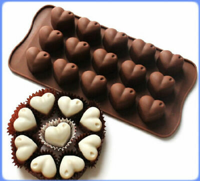 New Silicone Heart Shape Cake Mould Chocolate Jelly Valentine Candy Baking Mold • 2.51£