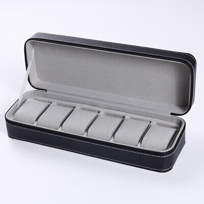 $ CDN30.67 • Buy 6 Slots Watch Pouch Bag Organizer Watch Box Display Case Travel Jewelry Leather