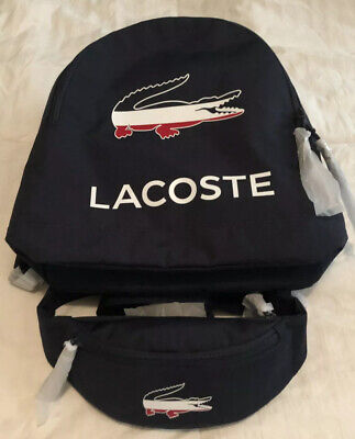 £116.33 • Buy Lacoste Navy Backpack And Waist Bag Combo - Lot Of 2 - NWT - Navy Blue Men's