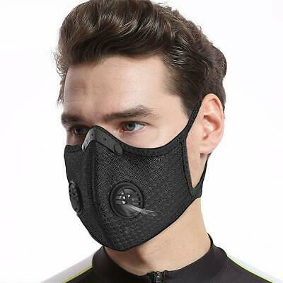 Face Mask Reusable Washable Anti Pollution PM2.5 Two Air Vent With Filter UK • 5.99£