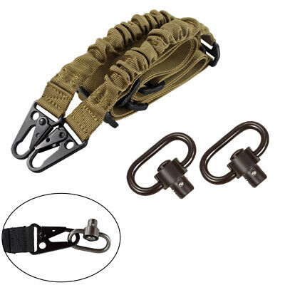 $ CDN8.77 • Buy Tactical Two Point Rifle Gun Sling Strap Adjustable With 2 QD Sling Swivels