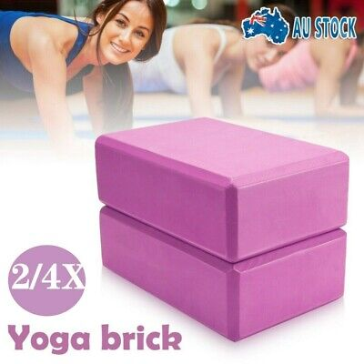 AU20.99 • Buy 2/4X VIVA Yoga Block Brick Foaming Home Exercise Practice Fitness Gym Sport Tool