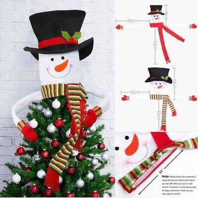Christmas Tree Topper Snowman Indoor Outdoor Trees Cover Home Xmas Decoration UK • 6.99£