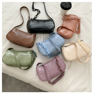 Crocodile Pattern Messenger Handbags Retro Mini Bags Shoulder Bags PU Leather • 4.23£