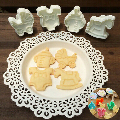 £2.85 • Buy Fondant 4pcs Cake Biscuit Mold Mould  Baking Cute Baby Cookies Plunger Cutter