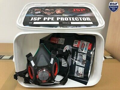 JSP Bundle - Force 8 Press To Check Mask LARGE, P3 Filters, PPE Container • 39.54£