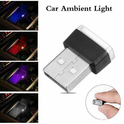 AU2.04 • Buy 1X Mini USB LED Car Interior Light Neon Atmosphere Ambient Lamp Bulb Accessories