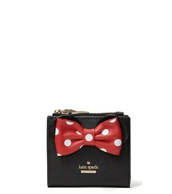 $ CDN135 • Buy Kate Spade Disney Adalyn Minnie Mouse Wallet NWT Black Disney Brand New